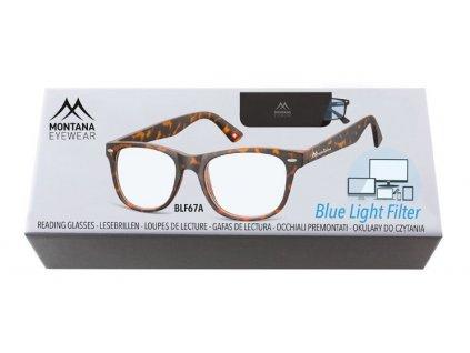 MONTANA EYEWEAR Brýle na počítač BLF BOX 67A +2,50