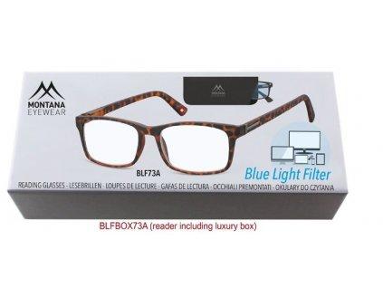 MONTANA EYEWEAR Brýle na počítač BLF BOX 73A s dioptrií +3,00