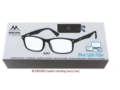 MONTANA EYEWEAR Brýle na počítač BLF BOX 83 s dioptrií +2,00