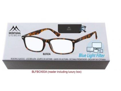 MONTANA EYEWEAR Brýle na počítač BLF BOX 83A s dioptrií +2,00