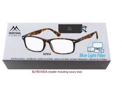 MONTANA EYEWEAR Brýle na počítač BLF BOX 83A s dioptrií +3,50