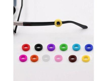 Protiskluzové silikonové nástavce na brýle 2ks red