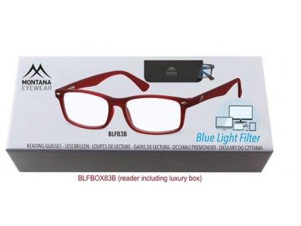 MONTANA EYEWEAR Brýle na počítač BLF BOX 83B s dioptrií +3,50