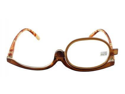 Dioptrické a kosmetické brýle /+1,75 hnědé