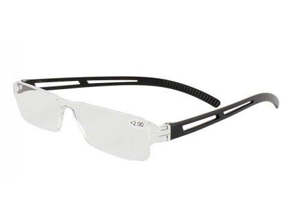 Dioptrické brýle 01GG/ +4,00 BLACK bez rámečků v pouzdru