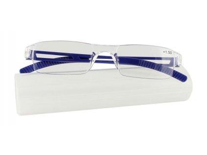 Dioptrické brýle 01GG/ +4,00 BLUE bez rámečků v pouzdru