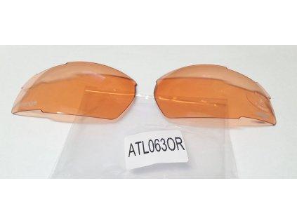 Náhradní čočky na brýle R2 Racer ATL063OR oranžové