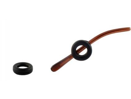 Protiskluzové silikonové nástavce (fixator) na brýle 2ks černý