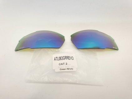 Náhradní čočky na brýle R2 Racer ATL063GRREVO zrcadlové modré Cat.2
