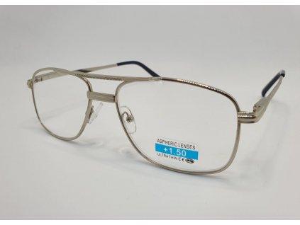 Dioptrické brýle 1R02/ +1,00 silver
