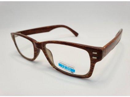 Dioptrické brýle 2R05/ +3,50 brown