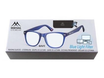 MONTANA EYEWEAR Brýle na počítač BLF BOX 67C bez dioptrií
