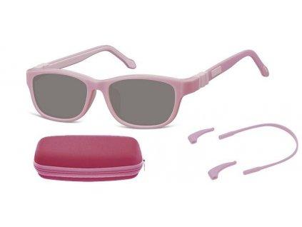 SUNOPTIC Dětské sluneční brýle (6-8let) flexibilní SK6B obroučky+ příslušenství + pouzdro
