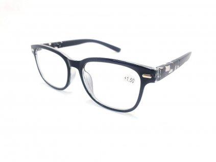 Dioptrické brýle Y18186 / +1,50 s pérováním šedý