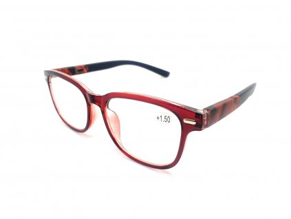Dioptrické brýle Y18186 / +3,50 s pérováním vínové