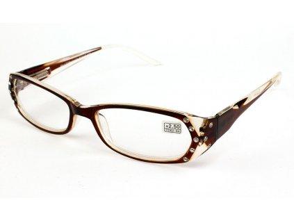 Dioptrické brýle 0039/ +5,00 hnědé