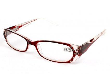 Dioptrické brýle 0039/ +6,00 červené