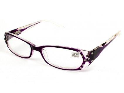 Dioptrické brýle 0039/ +3,25 fialové