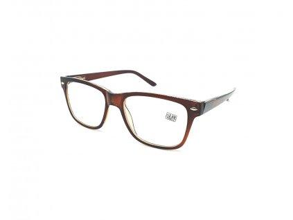 Dioptrické brýle 2074 / +2,75 hnědé flex