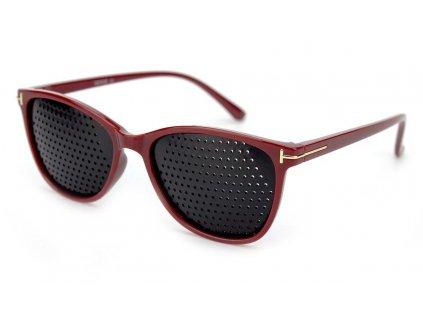 Ajurvédské brýle pro zlepšení zraku 1831-C2 červené