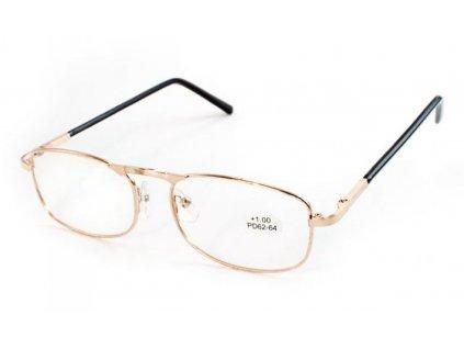 Dioptrické brýle PD 62-64  +2,50 kovové obroučky