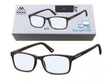 MONTANA EYEWEAR Brýle na počítač BLF BOX 73 BLACK bez dioptrií
