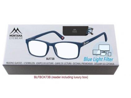Brýle na počítač BLF BOX 73B BLUE bez dioptrií