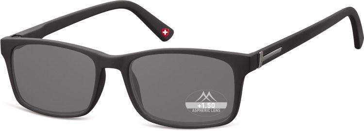 MONTANA EYEWEAR Dioptrické brýle BOX73S BLACK+2,50 ZATMAVENÉ ČOČKY
