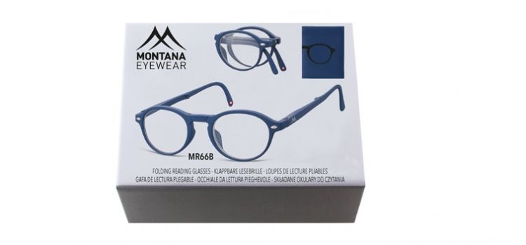 MONTANA EYEWEAR SKLÁDACÍ dioptrické brýle BOX66B BLUE +3,00
