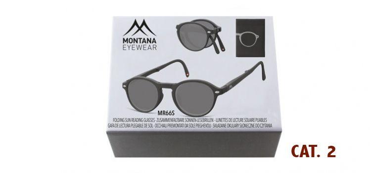 MONTANA EYEWEAR SKLÁDACÍ zabarvené dioptrické brýle BOX66S BLACK+3,00