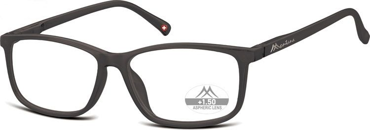 MONTANA EYEWEAR Dioptrické brýle MR62H Black/ +3,50 flex