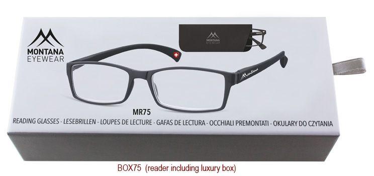 MONTANA EYEWEAR Dioptrické brýle BOX75 Black/ +3,50