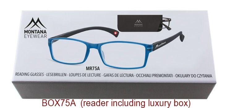 MONTANA EYEWEAR Dioptrické brýle BOX75A Blue/ +3,50