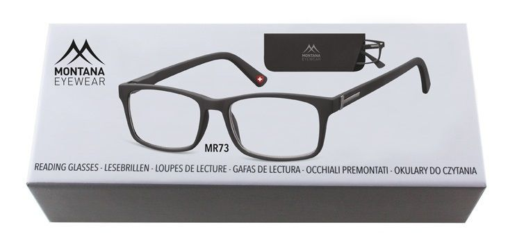 MONTANA EYEWEAR Dioptrické brýle BOX73 BLACK+1,50