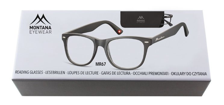 MONTANA EYEWEAR Dioptrické brýle BOX67 BLACK +2,50