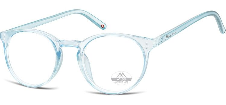 MONTANA EYEWEAR Dioptrické brýle HMR55A LIGHT BLUE/ +2,00