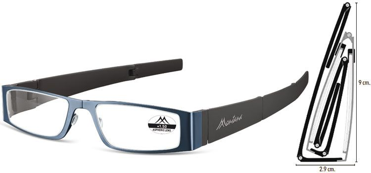 MONTANA EYEWEAR SKLÁDACÍ dioptrické brýle MR26B BLUE+2,00