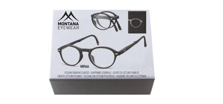 MONTANA EYEWEAR SKLÁDACÍ dioptrické brýle BOX66 BLACK+2,00