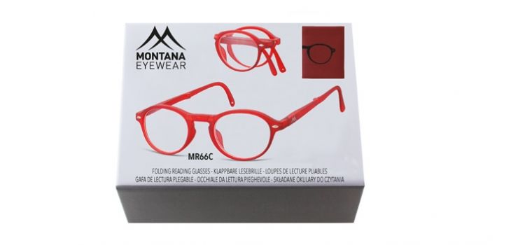 MONTANA EYEWEAR SKLÁDACÍ dioptrické brýle BOX66C RED +2,00