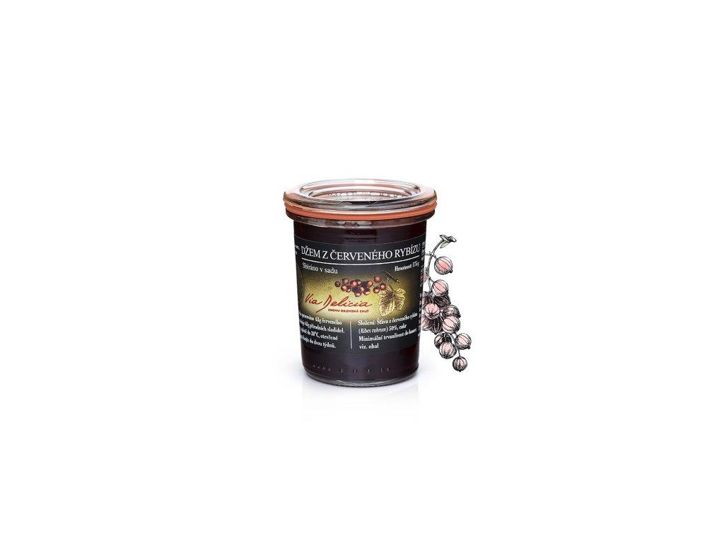 džem z červených ríbezlí