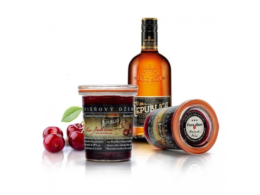 višnový džem s rumom