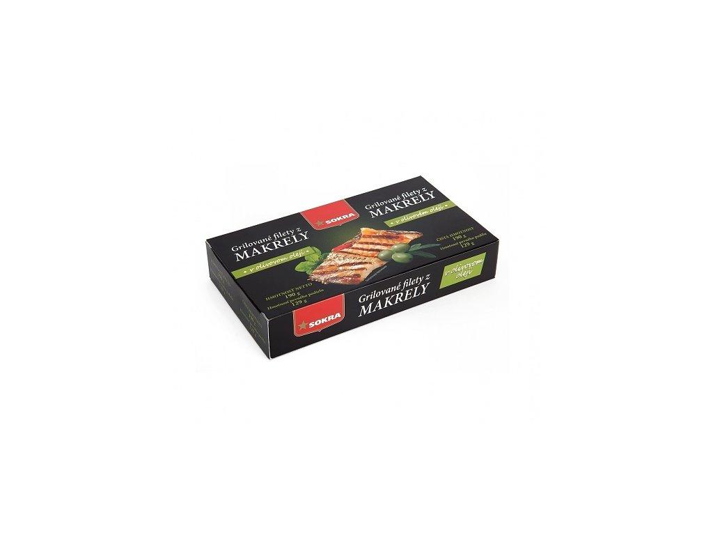 gril filety z makreli v oliv oleji