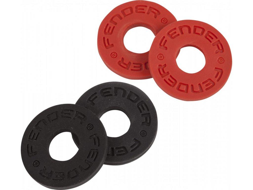 Zámky na popruh Fender Strap Blocks - Black, Red