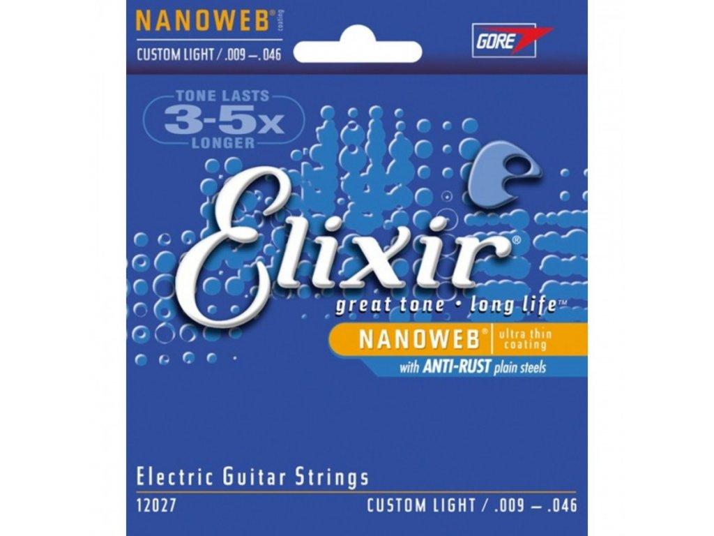 Struny na elektrickou kytaru ELIXIR NanoWeb 12027