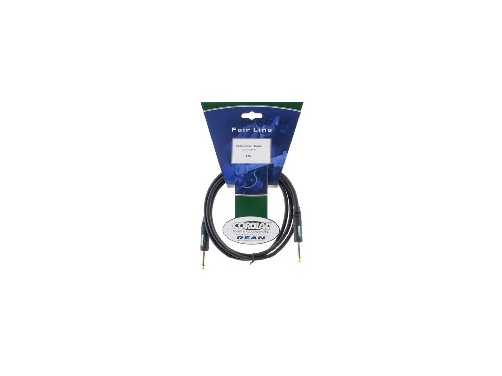 Nástrojový kabel jack-jack Cordial CCI 1,5 PP