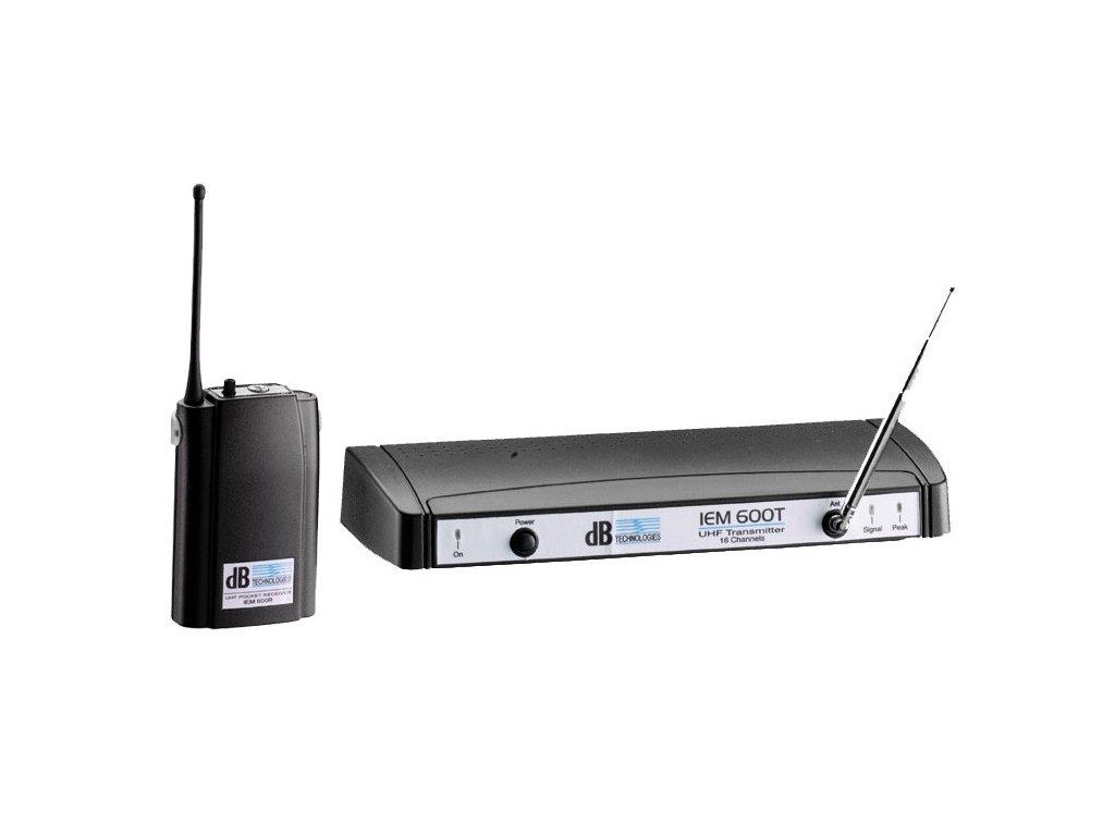 DB IEM 600 - bezdrátový in-ear monitoring set