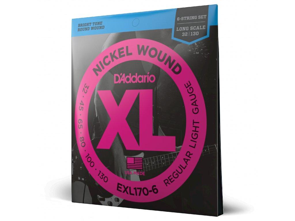 Struny na šestistrunnou basovou kytaru D´ADDARIO EXL170-6
