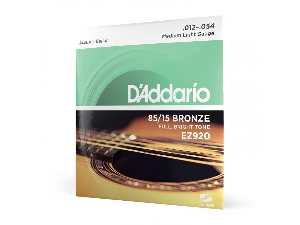 Struny na akustickou kytaru D´Addario EZ 920