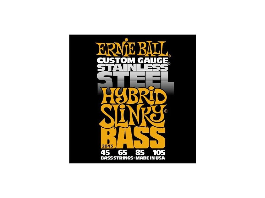 Struny na baskytaru Ernie Ball Hybrid Slinky Bass EB 2843
