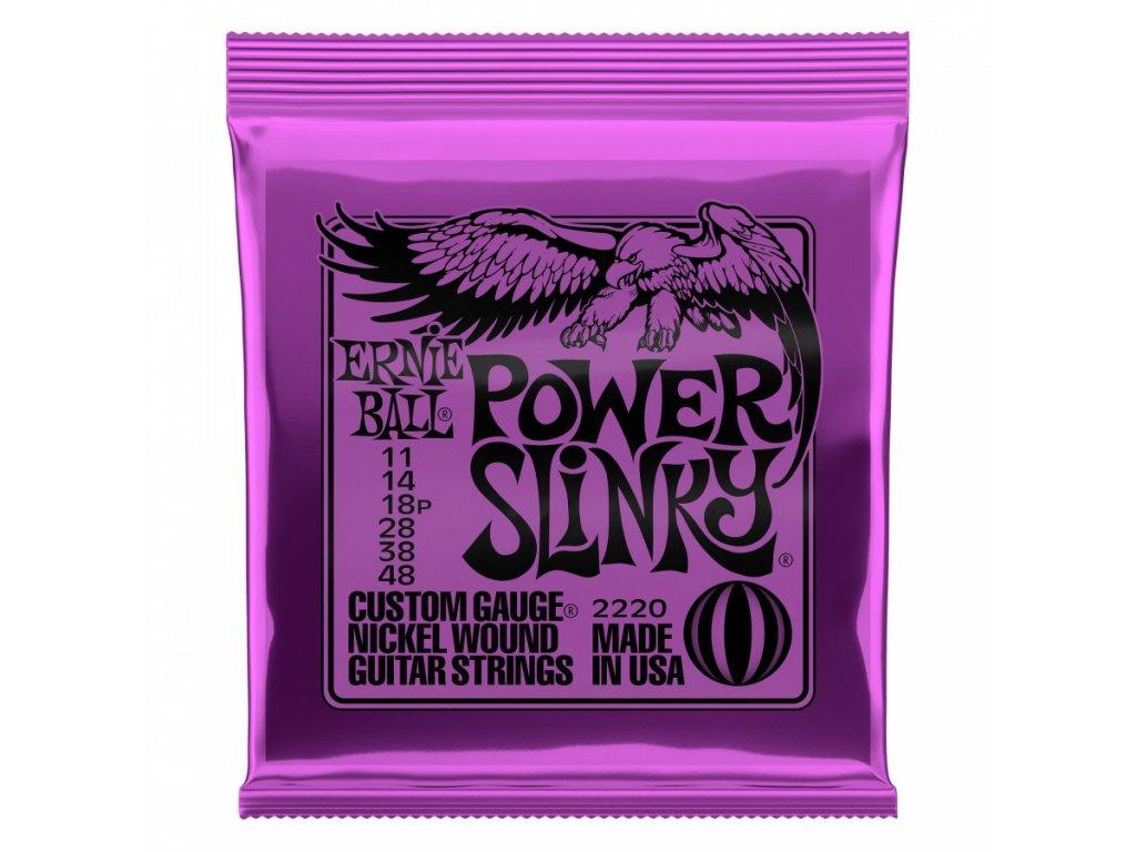 Struny na elektrickou kytaru Ernie Ball Power Slinky EB 2220
